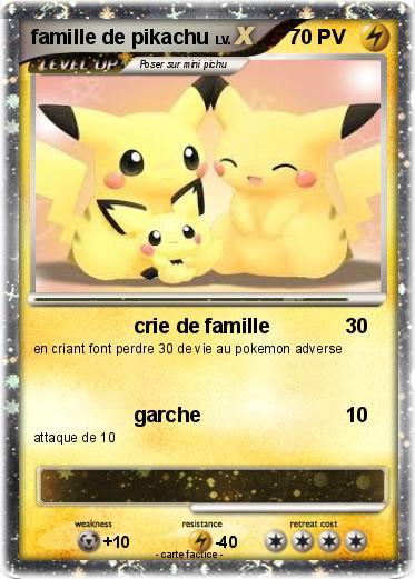 Pok mon famille de pikachu 2 2 crie de famille ma carte pok mon - Pokemon famille pikachu ...