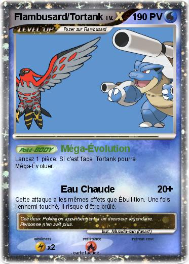 Pok mon flambusard tortank m ga volution ma carte pok mon - Pokemon tortank mega evolution ...