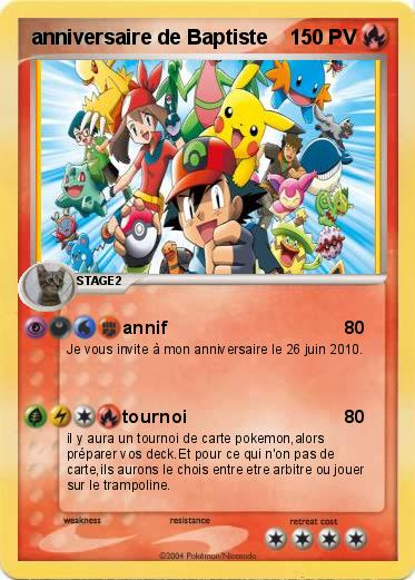 cartes invitation anniversaire Pokemon 04 Images - Frompo