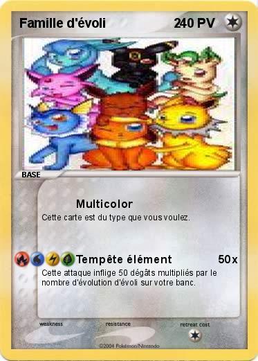 24 novembre 2013 carte d identit du pok mon nom la famille evoli - Famille evoli pokemon ...