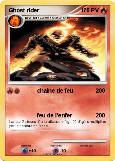 Pok mon ghost rider 502 502 chaine de feu ma carte pok mon - Dessin de ghost rider ...