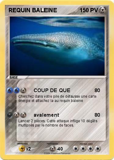 Pok mon requin baleine coup de que ma carte pok mon - Pokemon baleine ...