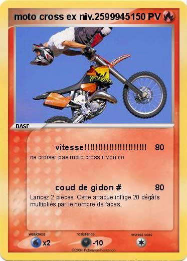 Pok mon moto cross ex niv 2599945 2599945 vitesse - Comment dessiner une moto cross ...