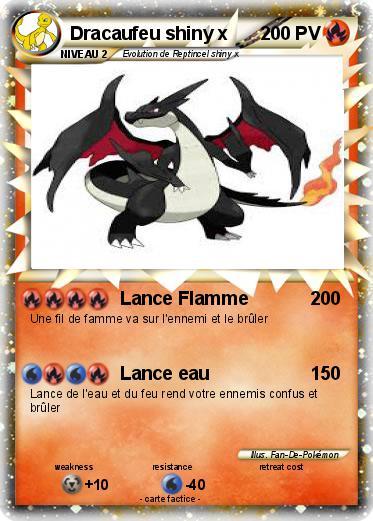 Pokemon Dracaufeu Shiny X 1