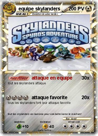 Pok mon equipe skylanders attaque en equipe ma carte pok mon - Tous les skylanders ...