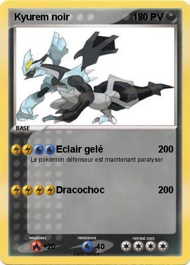Pok mon kyurem noir 223 223 eclair gel ma carte pok mon - Pokemon kyurem noir ...