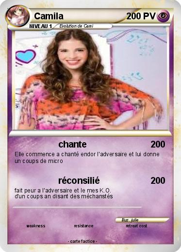 Pok mon camila 6 6 chante ma carte pok mon - Carte violetta a imprimer ...