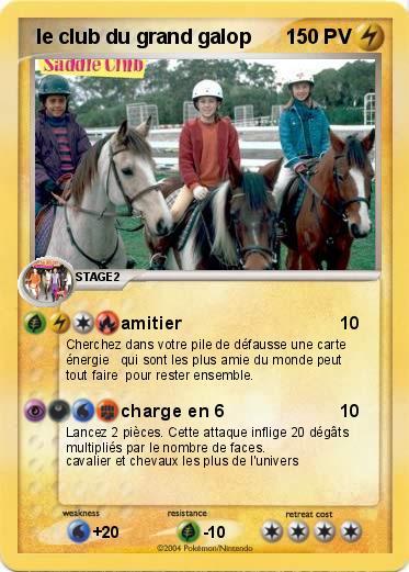Pok mon le club du grand galop 2 2 amitier ma carte - Coloriage chevaux grand galop ...