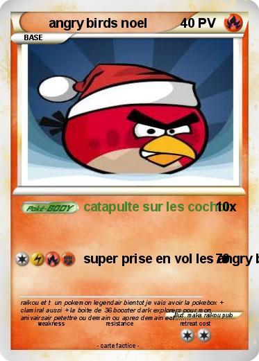 Pok mon angry birds noel catapulte sur les cochon ma carte pok mon - Angry birds noel ...