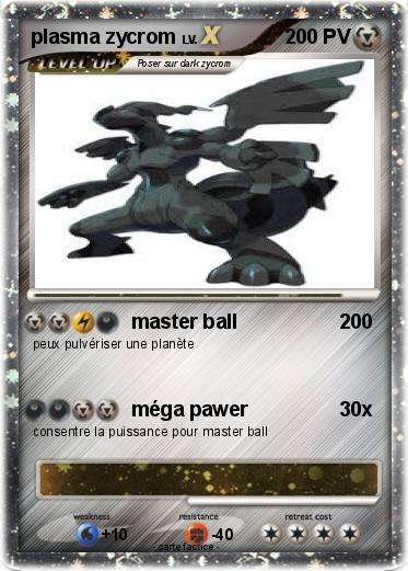 Pok mon plasma zycrom master ball ma carte pok mon - Elector pokemon x ...