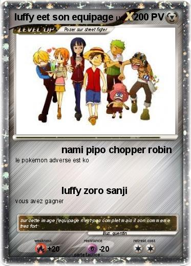 Pokemon luffy eet son equipage