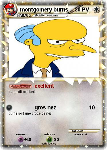 Pokemon montgomery burns