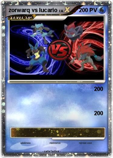 Pokemon zorwarq vs lucario
