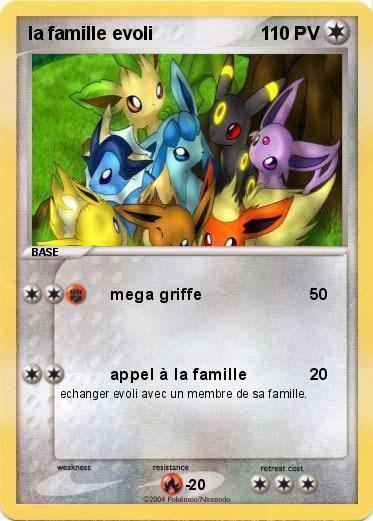 Pokemon la famille evoli