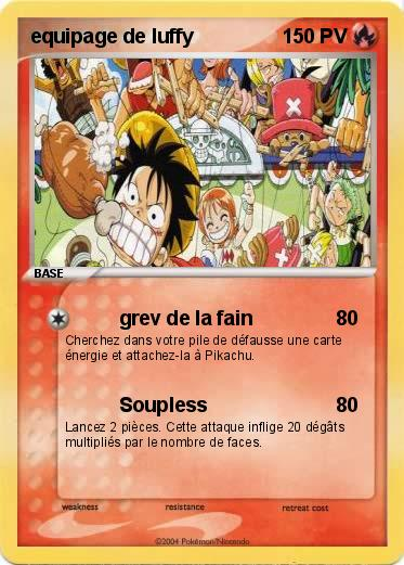 Pokemon equipage de luffy