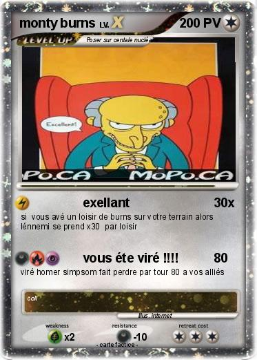 Pokemon monty burns