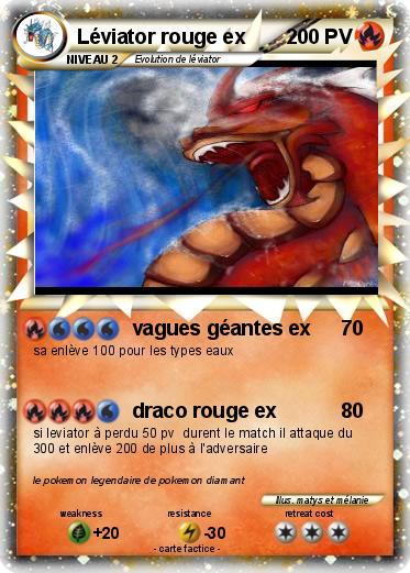 Pokemon Léviator rouge ex