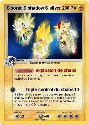 Pokemon S sonic S shadow S silver