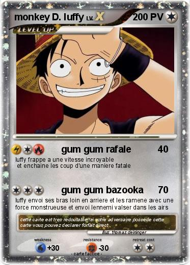 Pokemon monkey D. luffy