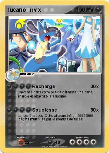 Pokemon lucario   nv x