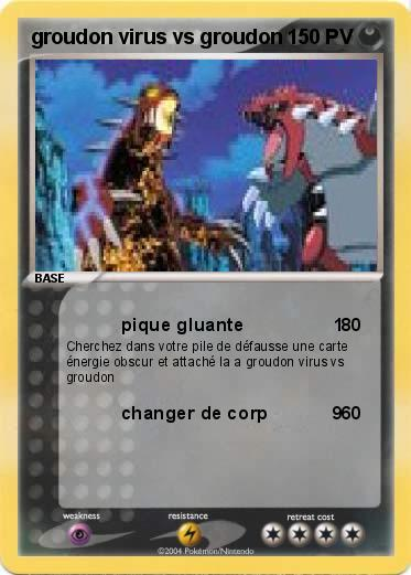 Pokemon groudon virus vs groudon