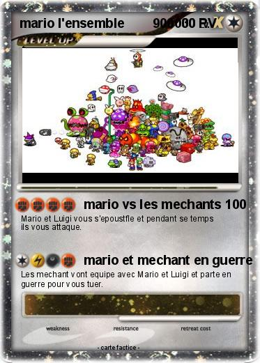 Pokemon mario l'ensemble        900000
