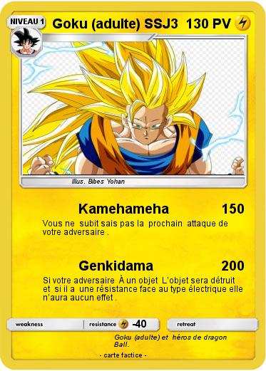 Pokemon Goku (adulte) SSJ3
