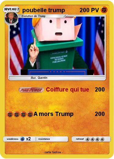 Pokemon poubelle trump