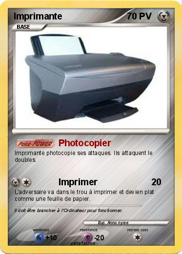 Pokemon Imprimante