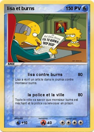 Pokemon lisa et burns