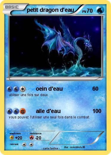 Pokemon petit dragon d'eau
