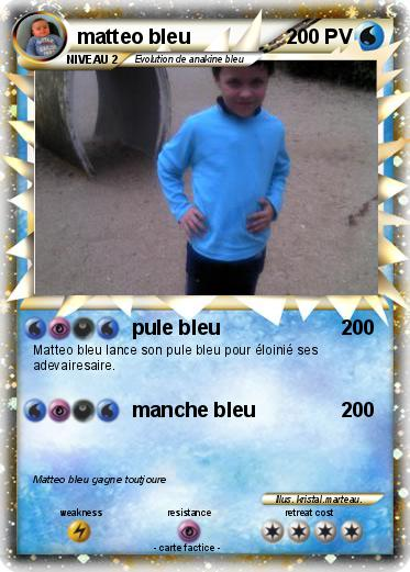 Pokemon matteo bleu