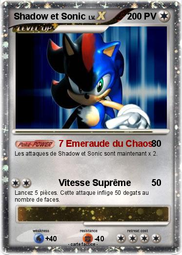 Pokemon Shadow et Sonic