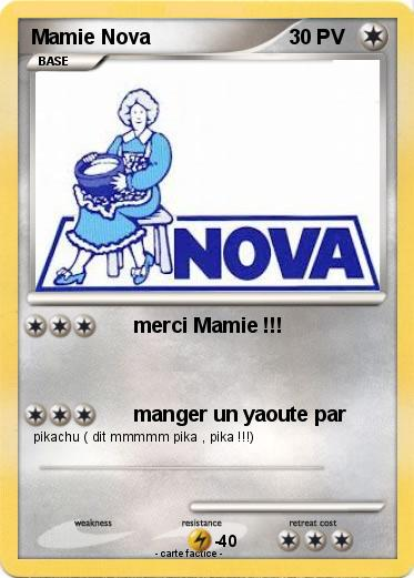 Pokemon Mamie Nova