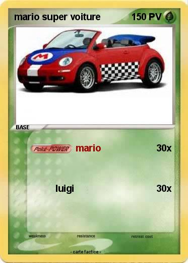 Pokemon mario super voiture