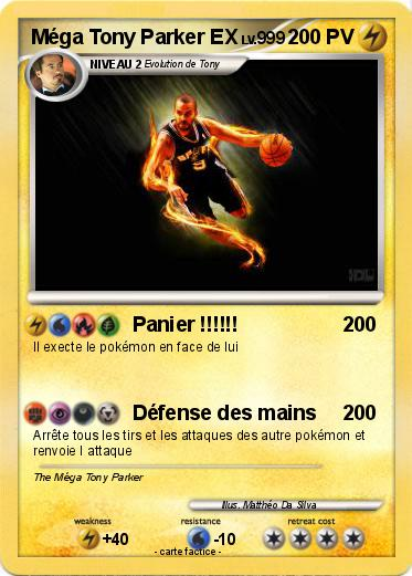 Pokemon Méga Tony Parker EX