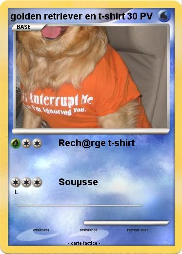 Pokemon golden retriever en t-shirt