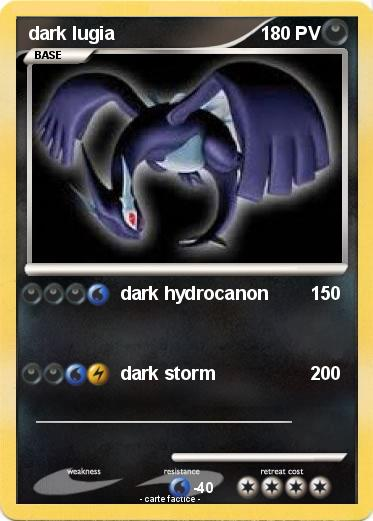 Pokemon dark lugia