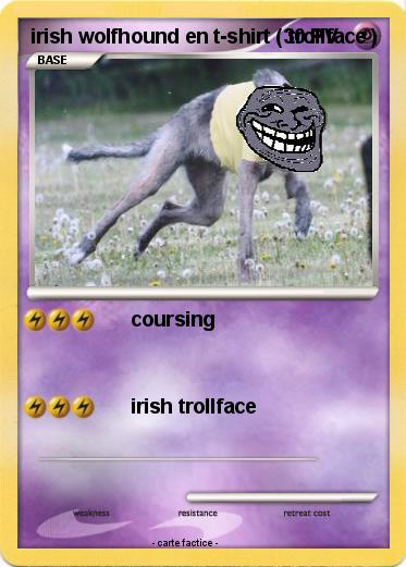 Pokemon irish wolfhound en t-shirt ( trollface )