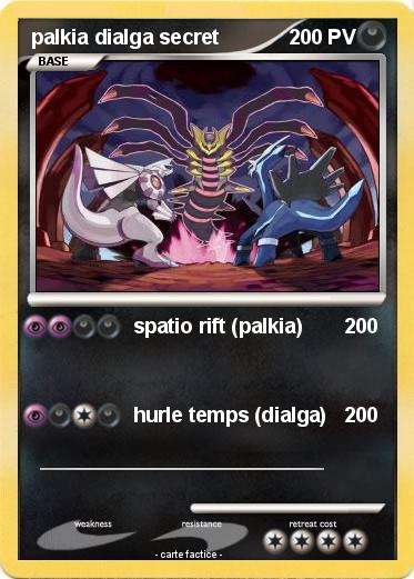 Pokemon palkia dialga secret
