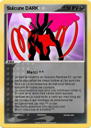 Pokemon Suicune DARK