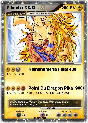 Pokemon Pikachu SSJ3