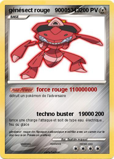 Pokemon génésect rouge   90005343