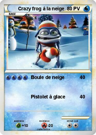 Pokemon Crazy frog à la neige