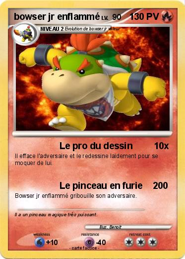 Pokemon bowser jr enflammé
