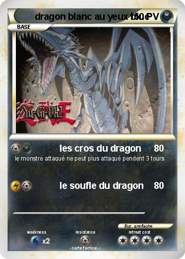 Pokemon dragon blanc au yeux blue