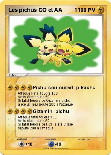 Pokemon Les pichus CO et AA        1