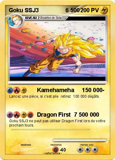 Pokemon Goku SSJ3                 6 500