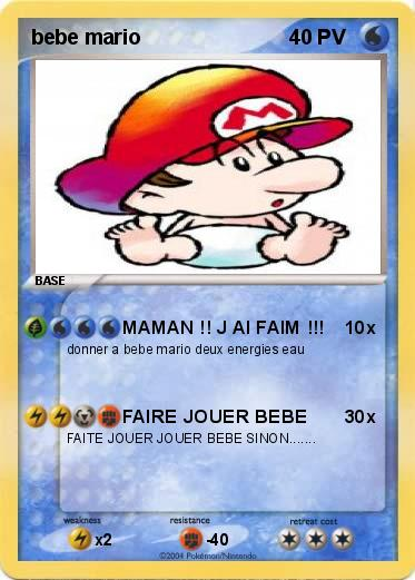 Pokemon bebe mario