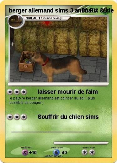Pokemon berger allemand sims 3 animaux & cie